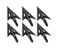 Black Broadheads 100Grain Screw-In Hunting Arrow Heads Target Points for Archery