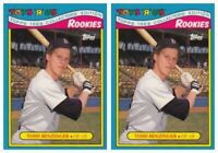 (2) 1988 Topps Toys R' Us Rookies Baseball 1 Todd Benzinger Lot Boston Red Sox