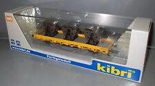 Kibri H0 26269 Niederbordwagen mit 3 Kabelrollen Gleisbau __ Fertigmodell
