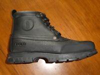 Polo Ralph Lauren Burson boots new black leather men's