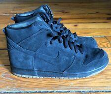new concept 208f4 87d55 Mens Nike X A.P.C. Dunk Hi Pro Black Suede Sneakers Size 10