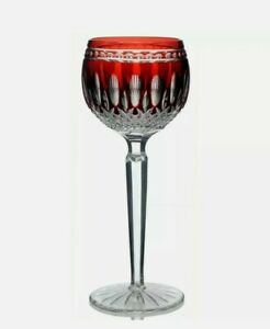 Waterford Crystal Clarendon Ruby Red Hock Wine Glass New