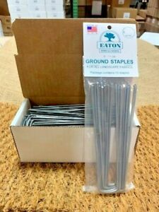 Lawn and Garden Landscape Staples - MADE IN USA - CARBON STEEL - BULK