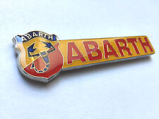 Abarth Emblem 100mm lang Fiat 500 600 Grande Punto Panda 124 Spider NEU