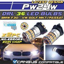 * x2pc Nuevo BMW serie 3 F30 PW24W 36 SMD LED DRL diurna luz Blanca Golf 7 GTD