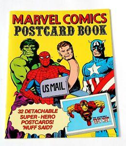 MARVEL COMICS POSTCARD BOOK * STUNNING NEAR MINT * SPIDERMAN HULK  * MARVELMANIA