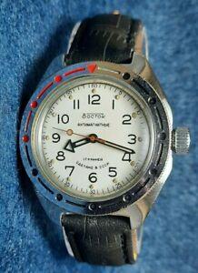 Soviet Vostok Komandirskie Antimagnetic watch Russia USSR wristwatch amphibia 1