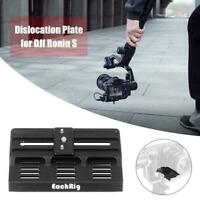 Offset Camera Base Bottom Plate for BMPCC 4K Blackmagic DJI Ronin S Gimbal