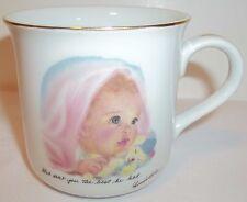 Vintage baby mug based on Frances Hook's artwork, Porcelain newborn cup by Roman