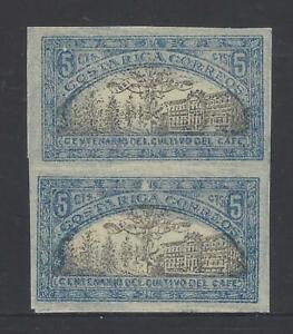 COSTA RICA CENTENARY of COFFEE CULTIVATION MENA 98 IMPERF PAIR MLH 1921