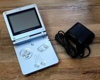 Nintendo Game Boy Advance SP AGS-001 Tested Working w/ Charger Pearl Blue