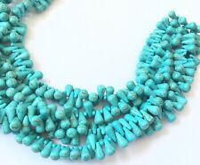 146 Amazing Turquoise Teardrop Gemstone beads Stone Gemstone Beads
