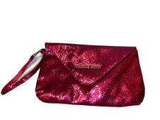 Victorias Secret Fuchsia Pink Sequins handbag bag mini clutch wristlet