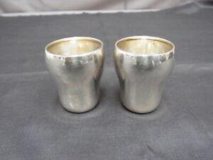 Sp331-835er Silber 2 Becher Höhe 4 Öffnung d.m 3,3 cm Gewicht 19,3 Gramm