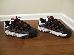 BNIB Size 12 Osiris D3 2001 Shoes Black, White, Red, Gray