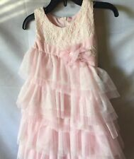 Isobella And Chloe Girl Pink And Ivory Asymmetrical Bodice Party Dress-3T-New