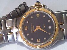 Raymond Weil Swiss Ladies Watch w/18K Links&Bezel/Stainless S&Diamonds on Dial.