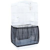 Pet Bird Cage Seed Catcher Seeds Guard Mesh Bird Cage Tidy Cover Skirt Traps