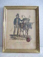 Ancienne Lithographie Carle Vernet. Le Marchand d'Encre (Cachet de Cire)