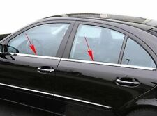 FITS Mercedes-Benz W211 SALOON Chrome Windows Frame Trim 4pcs S.STEEL 2002-2009