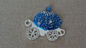 Metal Rhinestone Carriage Needle Minder Keeper Cross Stitch D122 Fridge Magnet