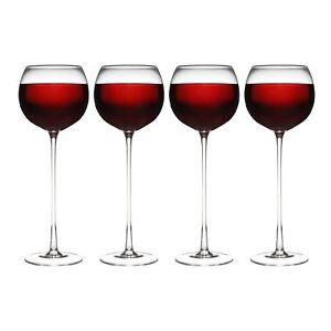 Set Of 4 Long Stem Wine Glasses