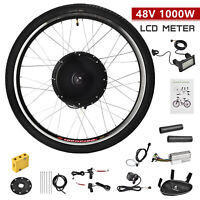 48V 1000W Front Wheel Electric Bicycle E-Bike Conversion Kit Motor Cycling w/LCD
