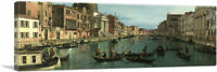 ARTCANVAS Venise - The Grand Canal Panoramic Canvas Art Print by Canaletto