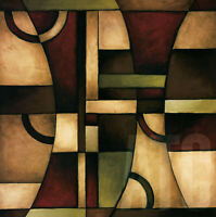 """CONNECTIONS I (27""""x27"""") and II (27""""x27"""") by EVE SHPRITSER - 2PC SET FORMS CANVAS"""