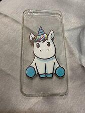 clear soft gel case - iPhone 6/6s plus - unicorn