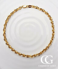 Yellow White or Rose Fine 9ct Gold Women's Prince of Wales Chain Bracelet 7.5″