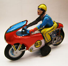 Tintoy, Blechspielzeug, Motorcycle, Motorrad 83, Friktion, OMI, Made in India.