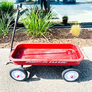 Radio Flyer Model #18 Original Classic Red Metal Wagon Children's Pull Ride
