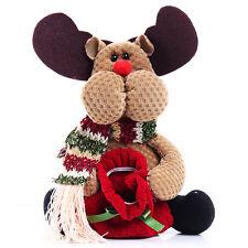 1X Table Ornament Reindeer Design Indoor Christmas Standing Decoration Supplies