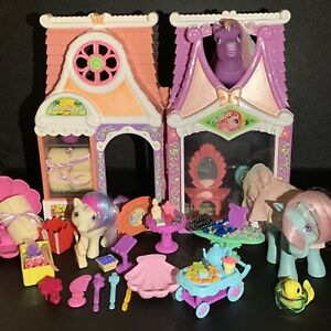 My Little Pony Celebration Salon Boutique 2003 With Accessories And Ponies