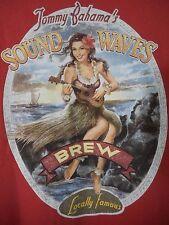 Shirt XL Tommy Bahama Pin Up Brew Girl Hula Uke Tropics Sound Waves