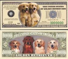GOLDEN RETRIEVERS Million Note ~ Crisp  Fantasy Note ~ Golden Retrievers