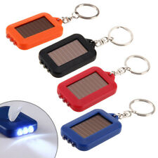 Solar powered Flashlight Lamp 3 Light LED electric torch Keychain Outdoor Sports