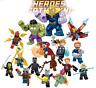 Blocksteine Spielzeug Figur Captain America Batman Hulk Modell Kinder DIY  16PCS