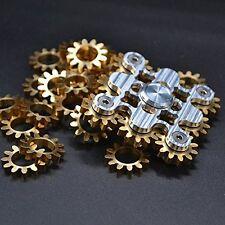Cool EDC 9 Nine Gear Brass Fidget Hand Spinner Handmade Torqbar Focus Kids Gift