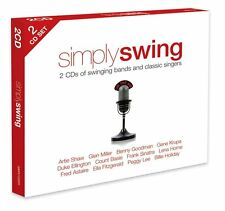 SIMPLY SWING ~ NEW SEALED 2CD SET SWINGING DANCE BANDS AND SINGERS 40 GREATS