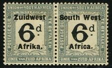 SG D32 SOUTH WEST AFRICA 1926 POSTAGE DUE - 6d BLACK & SLATE - MOUNTED MINT
