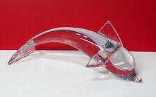 Dolphin Clear Art Glass Sea Mammal Figurine