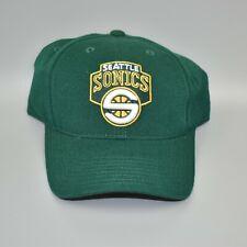 Seattle Sonics Supersonics Reebok NBA Unisex Adult Adjustable Strapback Cap Hat