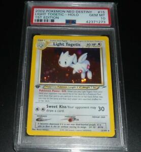 PSA 10 GEM MINT Light Togetic 15/105 1ST EDITION Neo Destiny Pokemon Card (CSM)