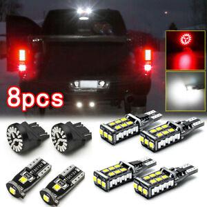 8x Car License Plate LED Lights Reverse Backup Brake Lamp Bulb Kit Accessories