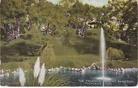 Pasadena, CA - Busch Gardens - Panoramic View of Grounds and Fountain