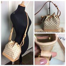 Authentic Louis Vuitton Noe BB Damier Azur Shoulder Bag. Superb SA3189.