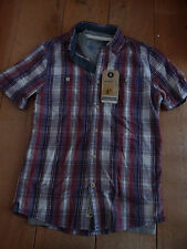 Men's Collared Short Sleeve Check Cotton Casual Shirts & Tops