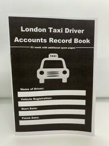 LONDON TAXI DRIVER  ACCOUNT RECORD BOOK 53 WEEK